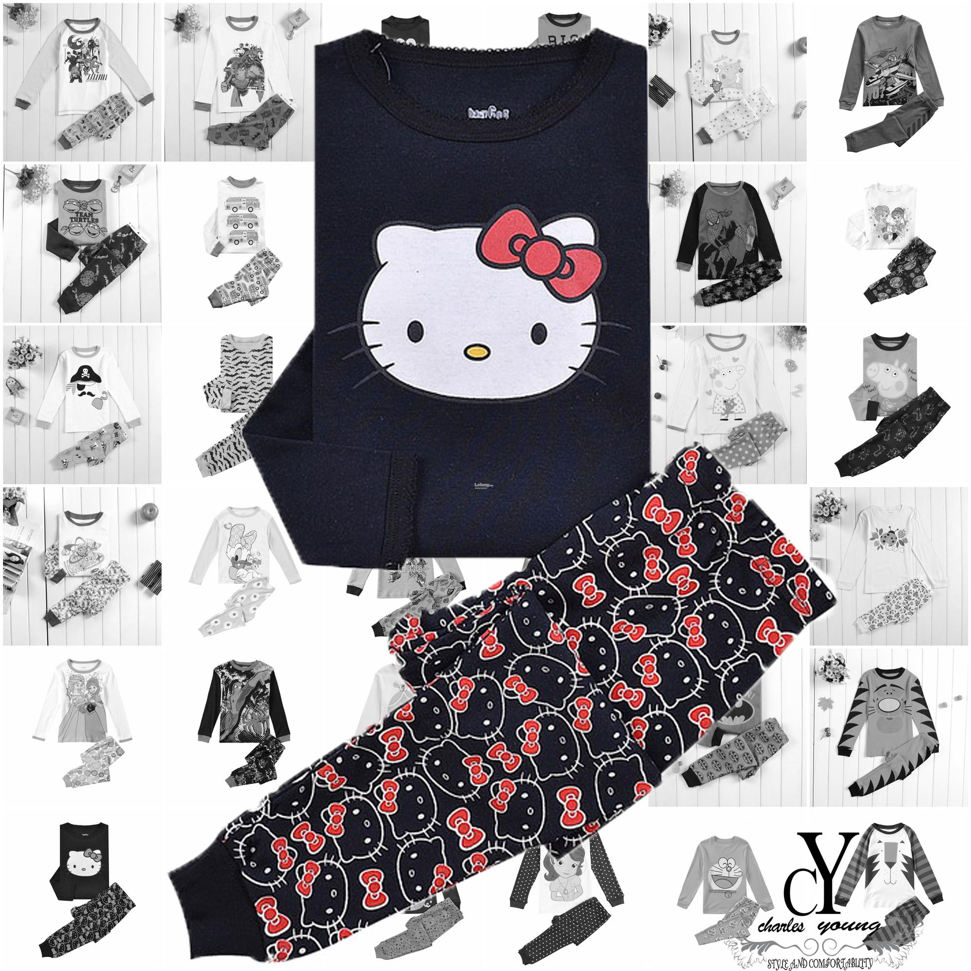 CHILDREN,PYJAMAS,PASANG,TIDUR,CARTOON,DISNEY,HELLO,KITTY,CAT