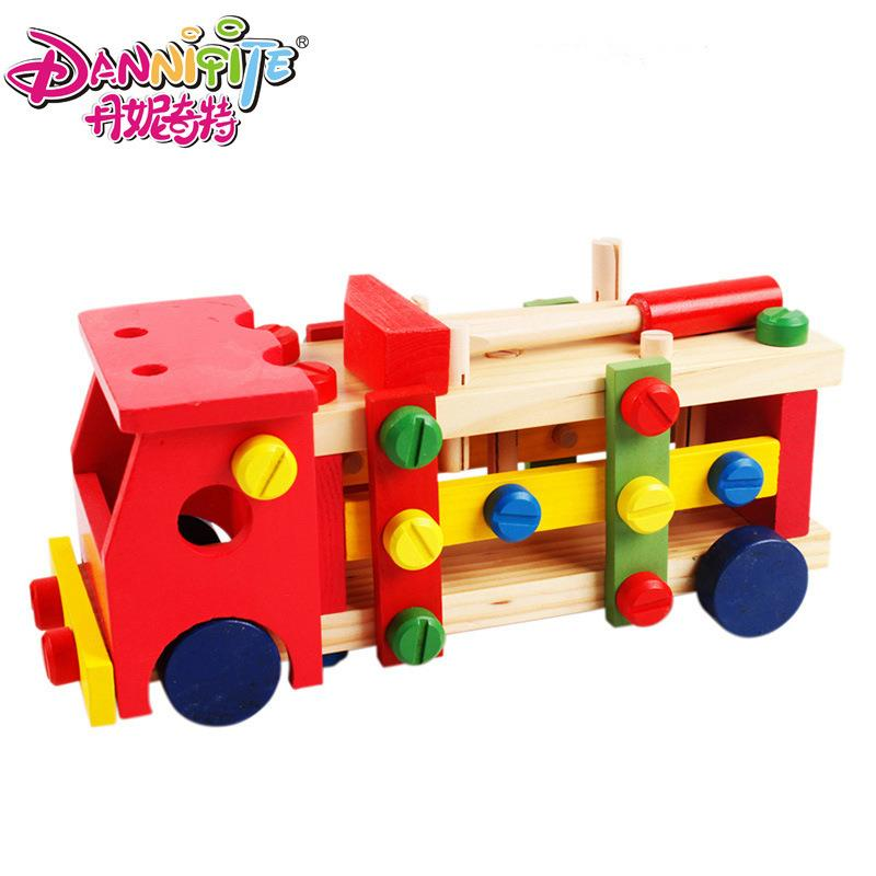 Children�s Educational Early Childhood Wooden DIY Car
