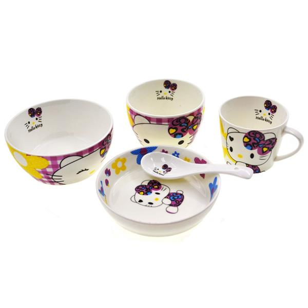 Children table ware sets hell end 3 17 2017 5 15 pm myt for Table exterieur hello kitty
