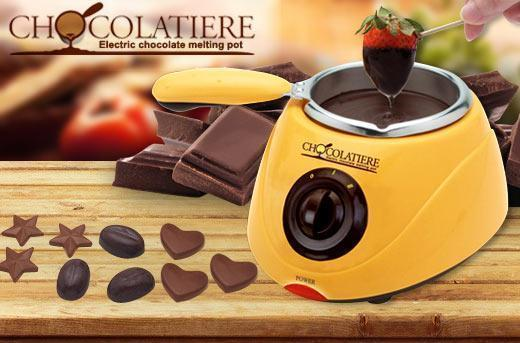 CHOCOLATE MELTING POT **CHOCOLATIERE** DECORATION KIT MOULD