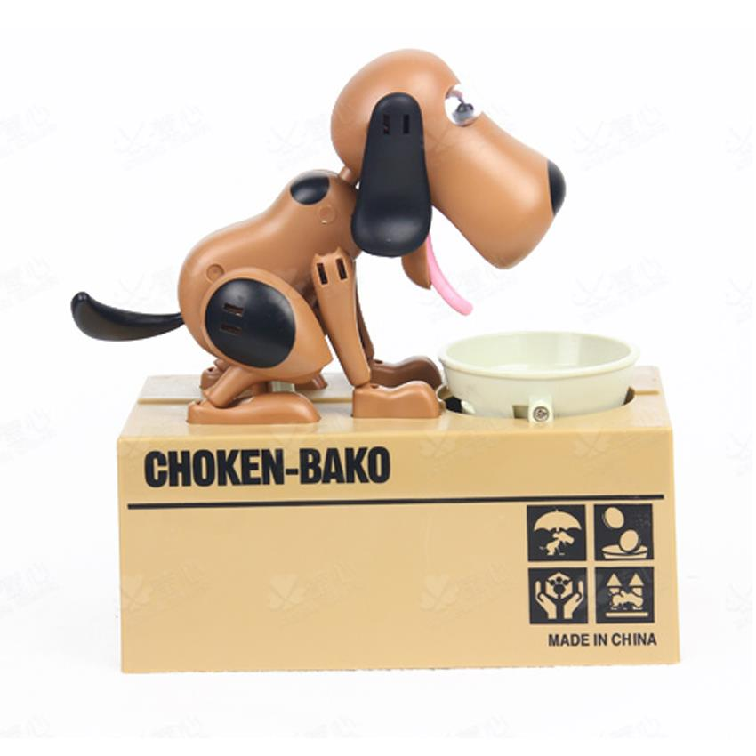 Choken Hungry Eating Coins Dog Piggy Bank Coins Saving Box
