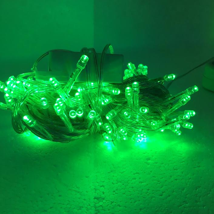 Christmas Light Transparent Wire 10M (Green) - Blinking