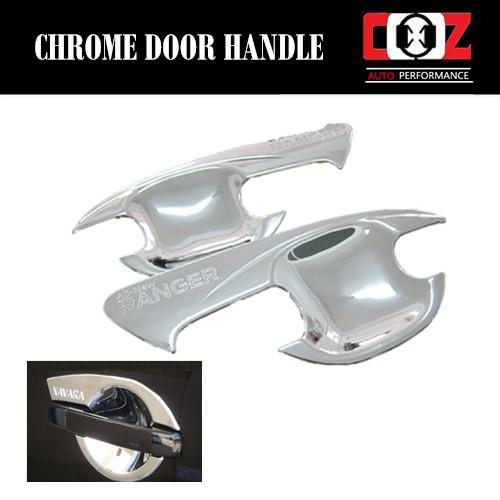Chrome Door Handle Grand Bowl Cup Insert Cover for FORD RANGER 2012