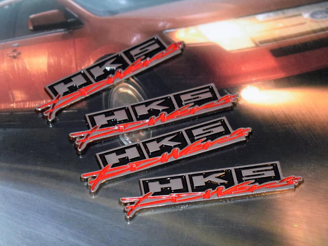 :  Chrome Powers Hq Metal Trunk Badge Auto Fender Side Doo 4 Pieces #G