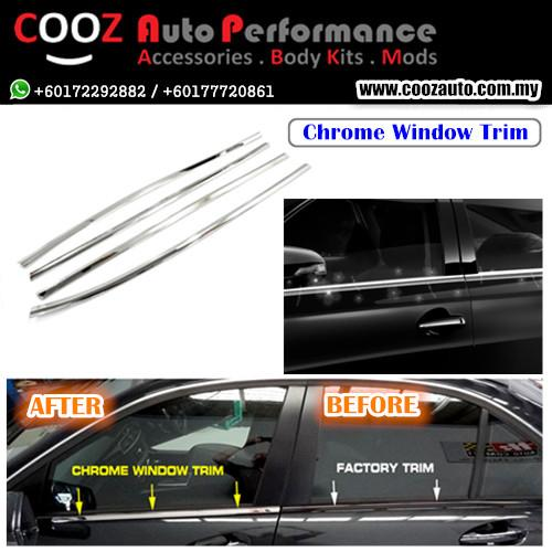 CHROME SIDE WINDOW FRAME MOULDING TRIM COVER - PROTON SATRIA / NEO