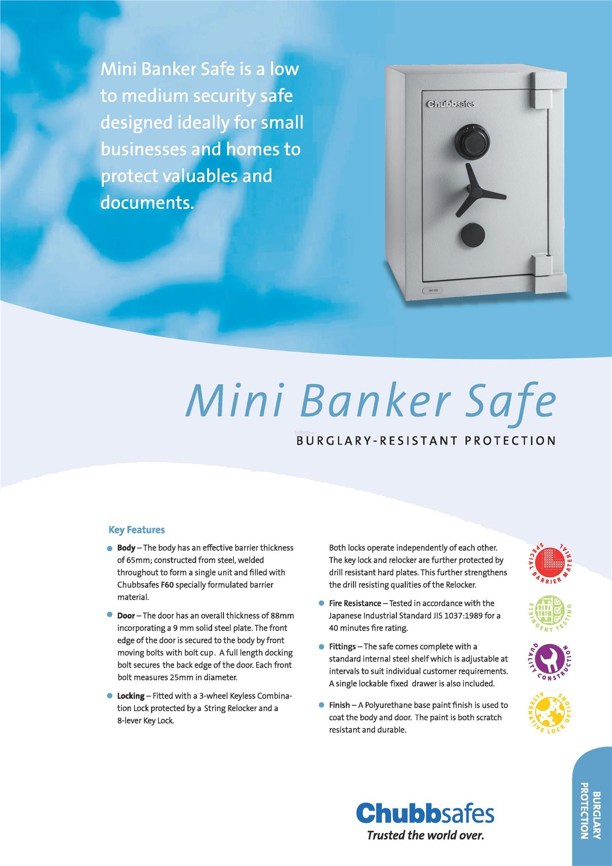Chubbsafes Mini Banker Series Safe Box (160KG)