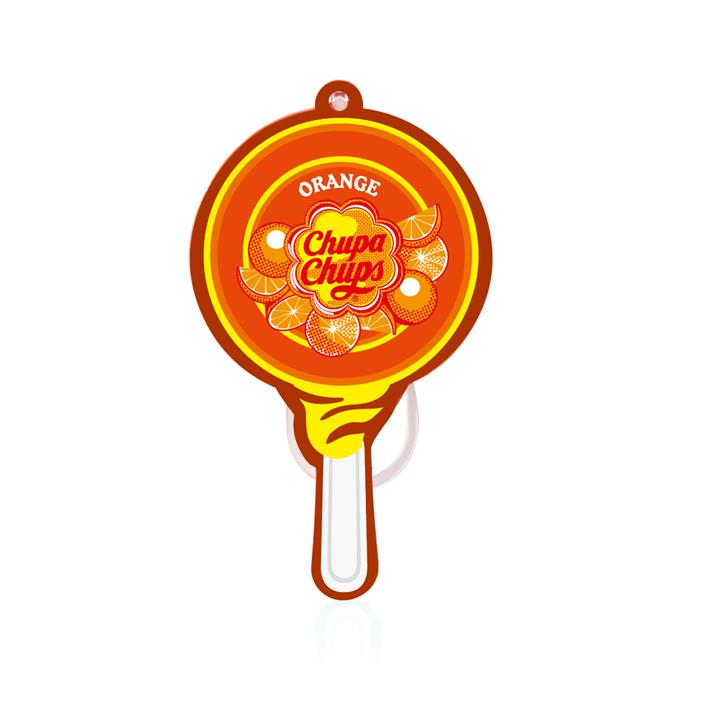 Chupa Chups Lollipop Paper Air Freshener Orange CHP702D