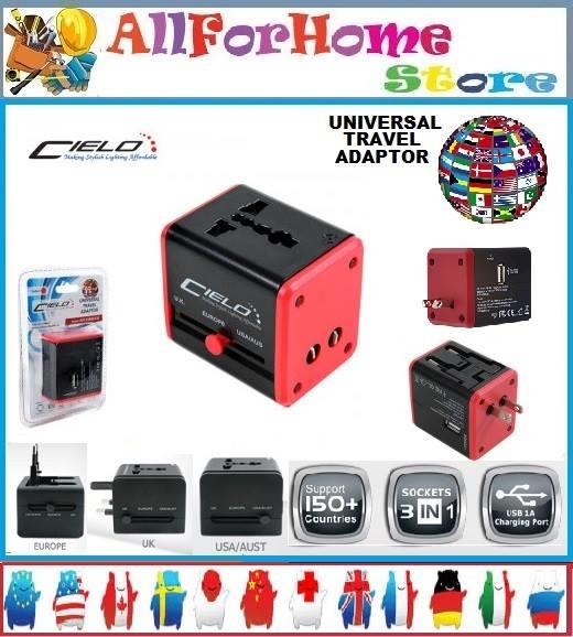 CIELO Universal Travel Adaptor with USB Port
