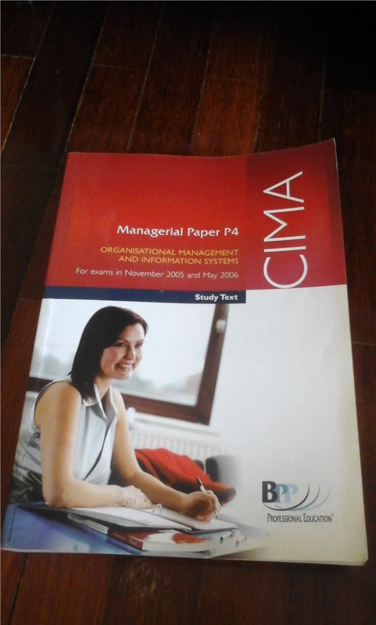 CIMA Organisational Management and Information Systems