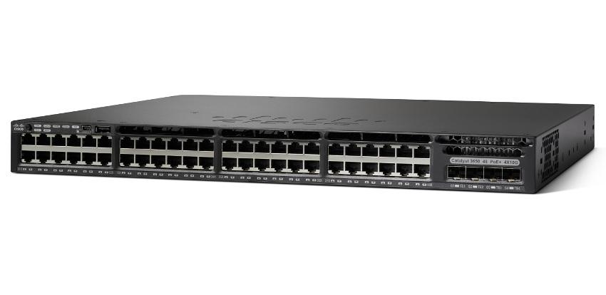 Cisco Catalyst 3650 48 Port Data 4x10G Uplink IP Base(WS-C3650-48TQ-S)