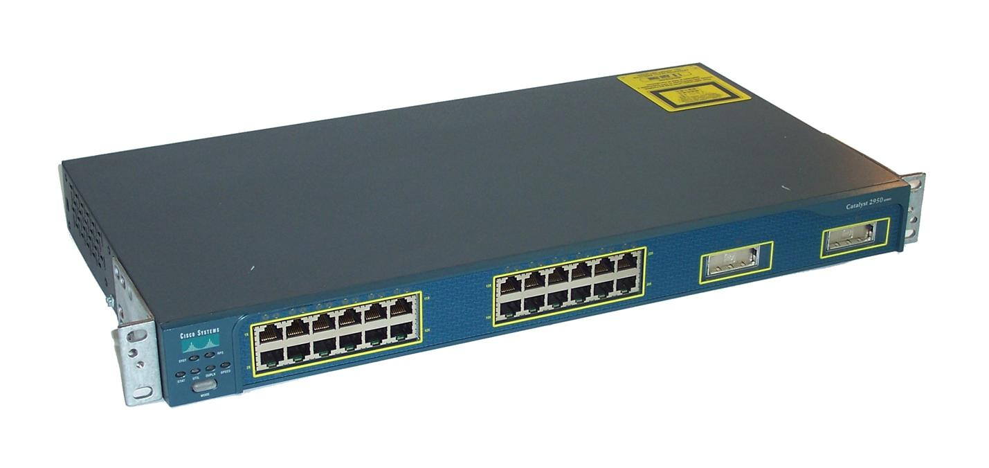 Cisco WS-C2950G-24-EI   24-Ports Switch