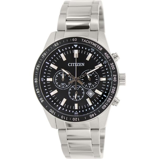 CITIZEN AN8070-53E AN8070-53 CHRONOGRAPH STAINLESS STEEL WATCH