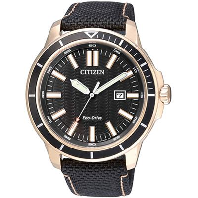 CITIZEN AW1523-01E AW1523-01 ECO-DRIVE LEATHER MENS WATCH