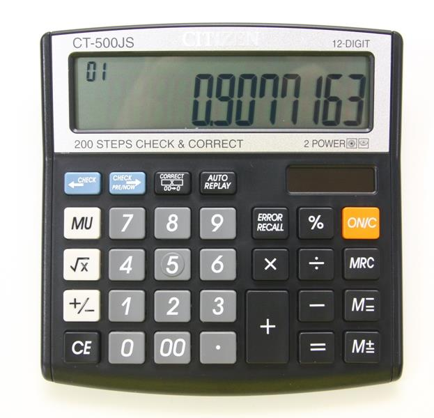 CITIZEN Electronic Calculator 12 Digit CT-500JS
