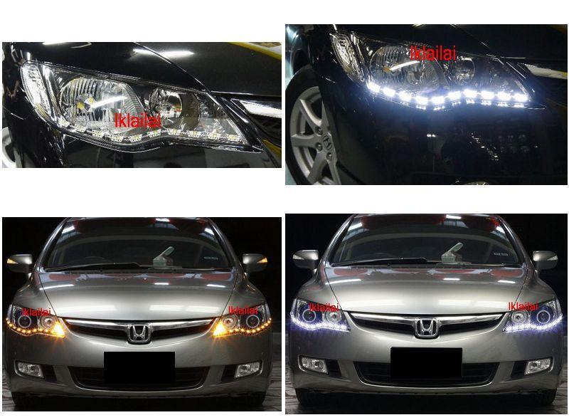 Civic FD Head Lamp 2-Function DRL R8 [Wish / Myvi Others to Modify-in]