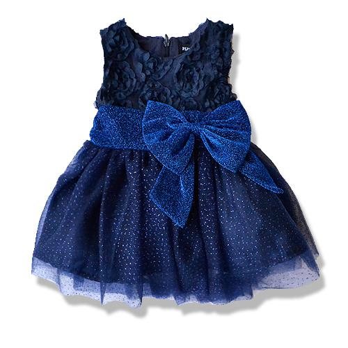 Classical Sleeveless Big Ribbon Party/Dinner Dress Royal Blue