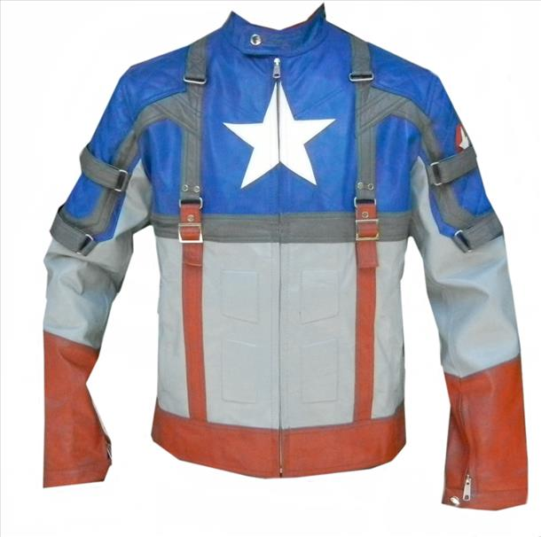 Classyak Men fashion Original Cow Leather Captain America Jacket