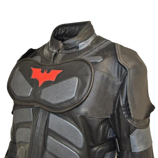 Classyak Men's Dark Real Leather Knight Costume Suit