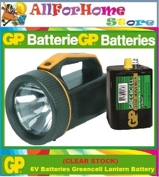 (CLEAR STOCK) 6V GP Batteries Greencell Lantern Battery
