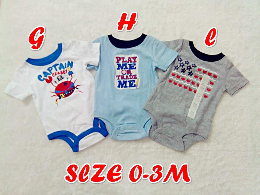 Clearance!! 2 for RM25 0-3M Baby Boy Romper