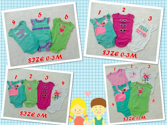 Clearance!! 2 for RM25 Baby Girl Romper