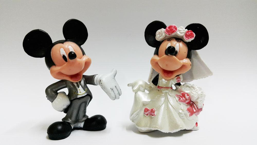 CLEARANCE Mickey Mouse Wedding Figure West / gift present (1 pair)