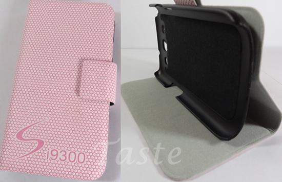 Clearance: PINK Leather Cover Case Samsung I9300 Galaxy S III 3 S3