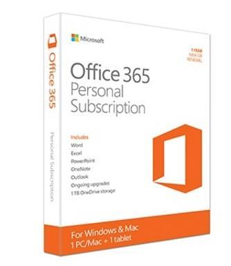 CLEARANCE SALE Windows/Mac Microsoft Office 365 Personal 1 Year 1 User
