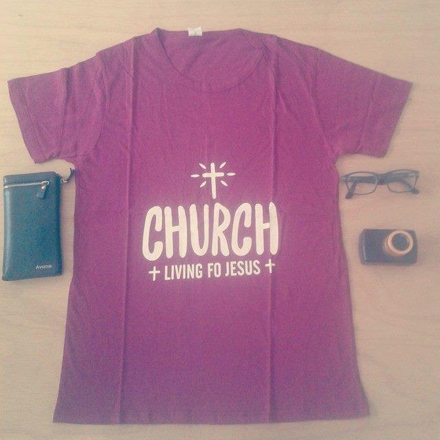 Clearance Stock Red Church Full Cotton Free Size Tshirt