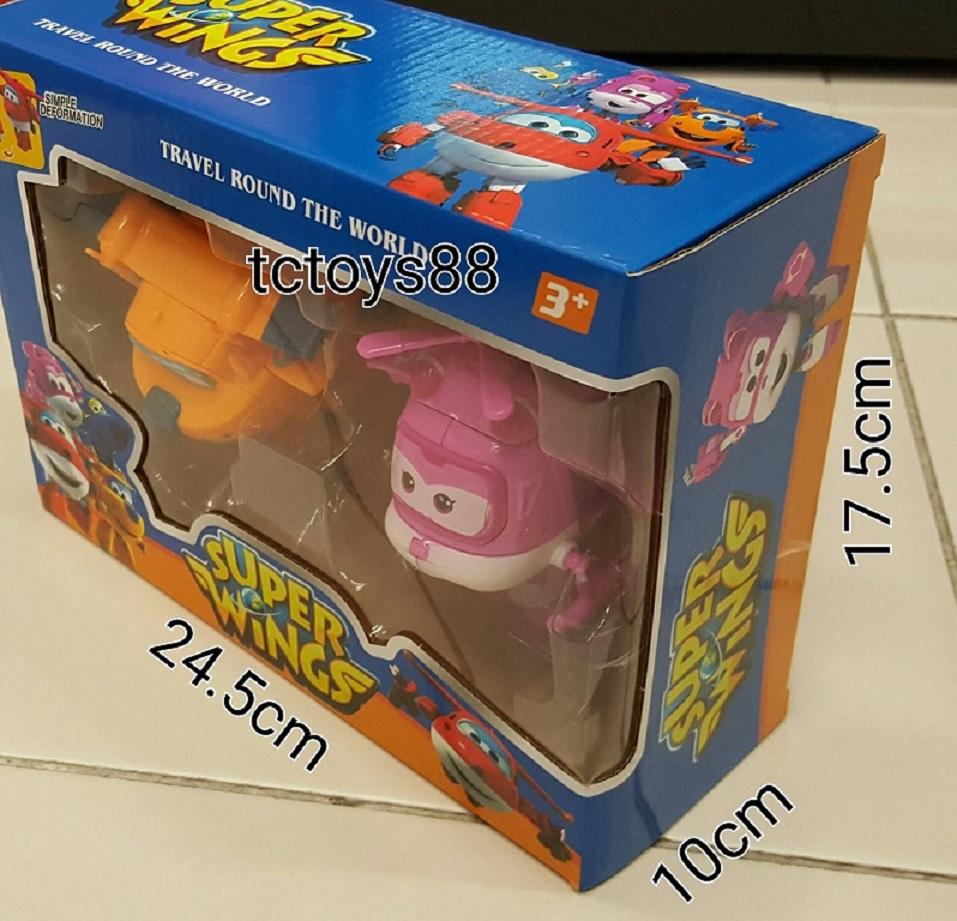 CLEARANCE.!!! Super Wings Twins Pack for Donnie & Dizzy set. New.!!