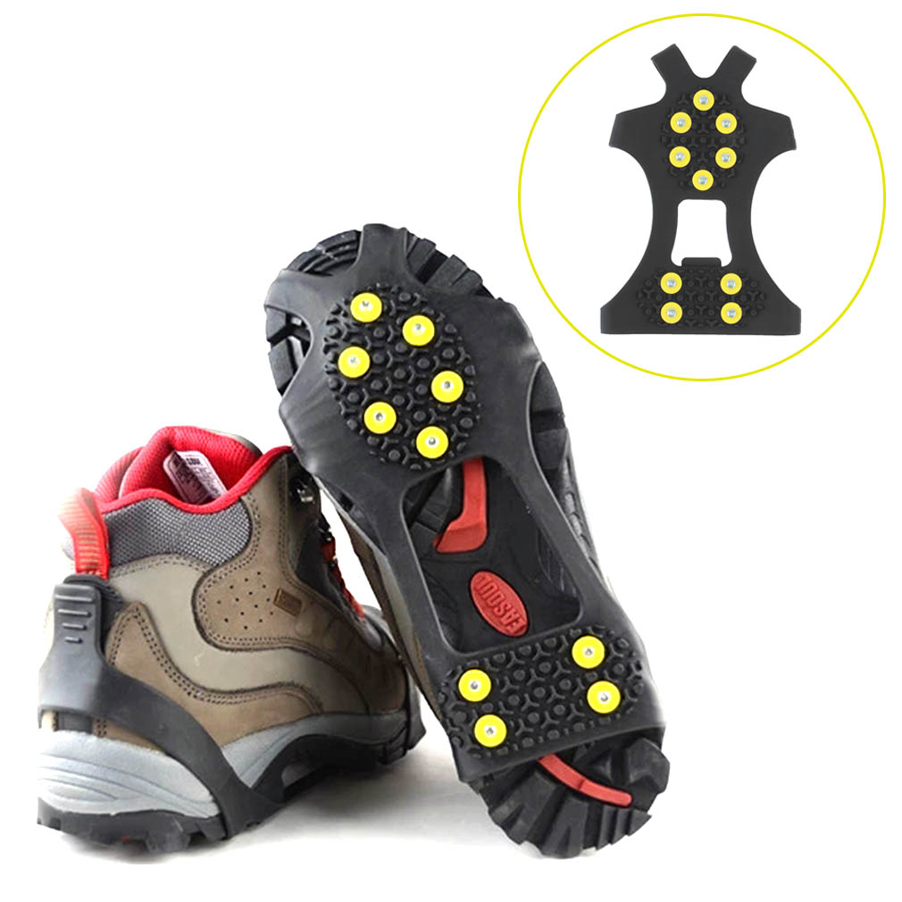 Cleats Over Shoes Studded Snow Grips Ice Grips Anti Slip Snow Shoes Cr..