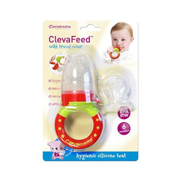 Clevamama New Clevafeed Silicone Safe Feeder With Extra Teat