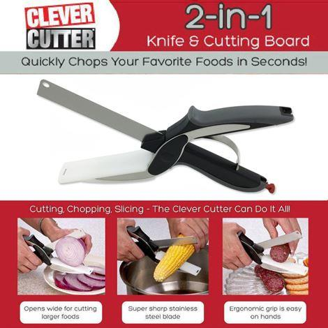 Clever Cutter 2-in-1 Food Chopper ready
