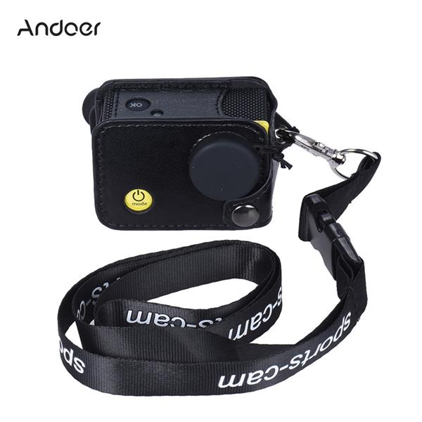 Clip-on Black Sports Camera Protecive Carrying Hanging Case Bag