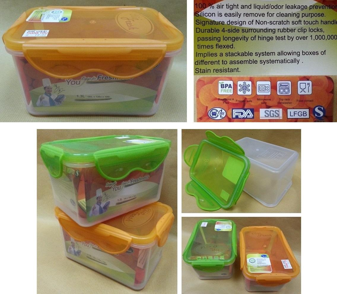 CLIP FRESH Plastic Container. Tupperware