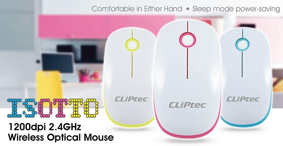 CLiPtec ISOTTO 1600dpi 2.4GHz Wireless Optical Mouse (RZS851)