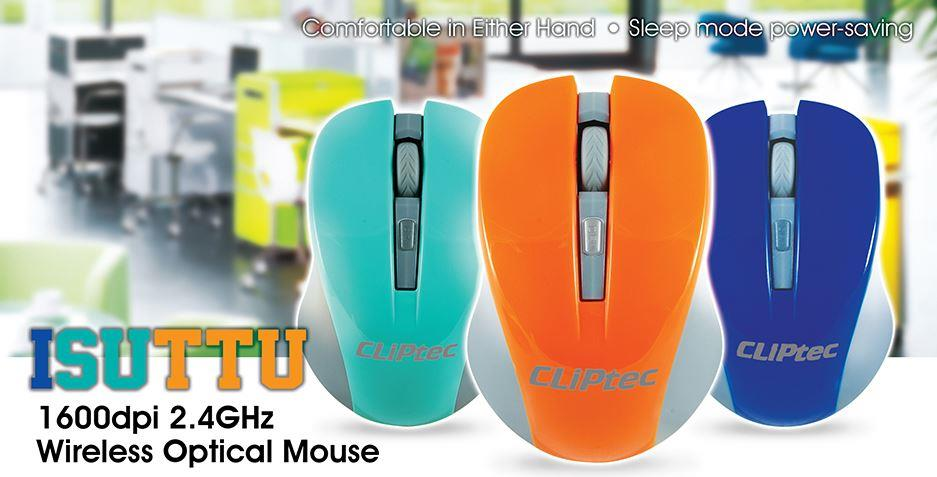 CLiPtec ISUTTU 1600dpi 2.4GHz Wireless Optical Mouse (RZS852)