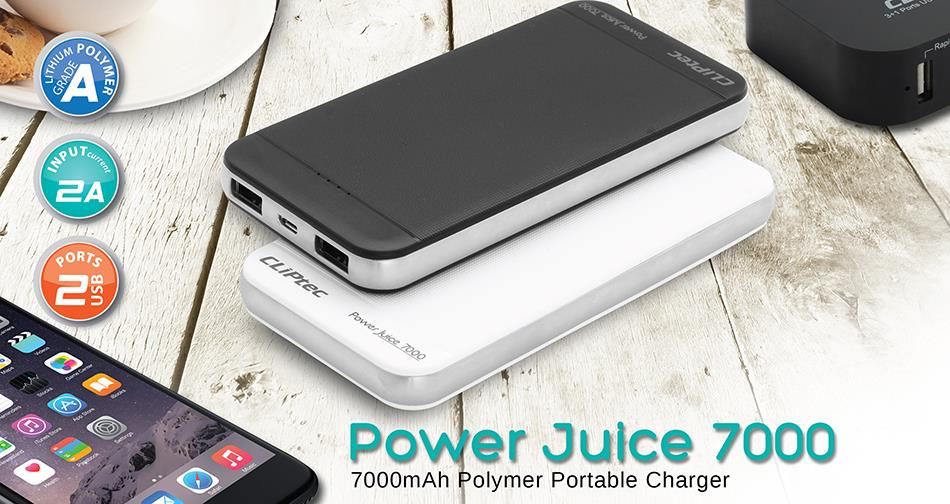 CLiPtec POWER JUICE 7000 7000mAh Polymer Portable Charger