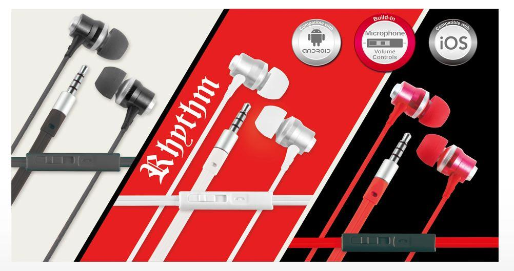 CLiPtec RHYTHM In-Ear Earphone with Mic. and Volume Control (BME878)