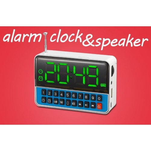 clock alarm speaker usb mp3 ra end 4 5 2019 8 26 pm myt. Black Bedroom Furniture Sets. Home Design Ideas