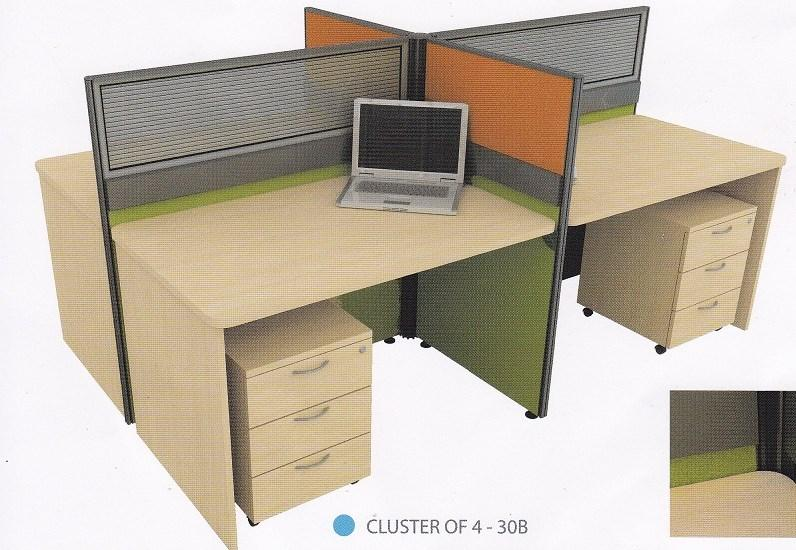 Cluster Of 4 Pax Office Workstation End 7 20 2014 453 PM