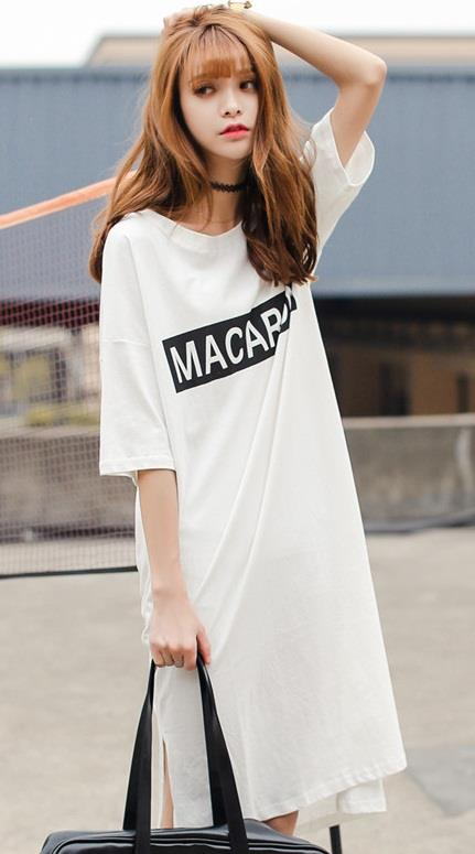 [CM37215] Women Korea Fashion Dress White