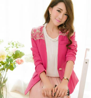 [CM37231DP] Women Korea Stylish Jacket Dark Pink