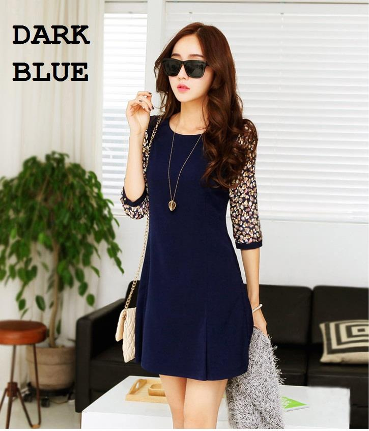 [CM4997DB] Fashion Woman Elegant Working Office Wear Dress Dark Blue