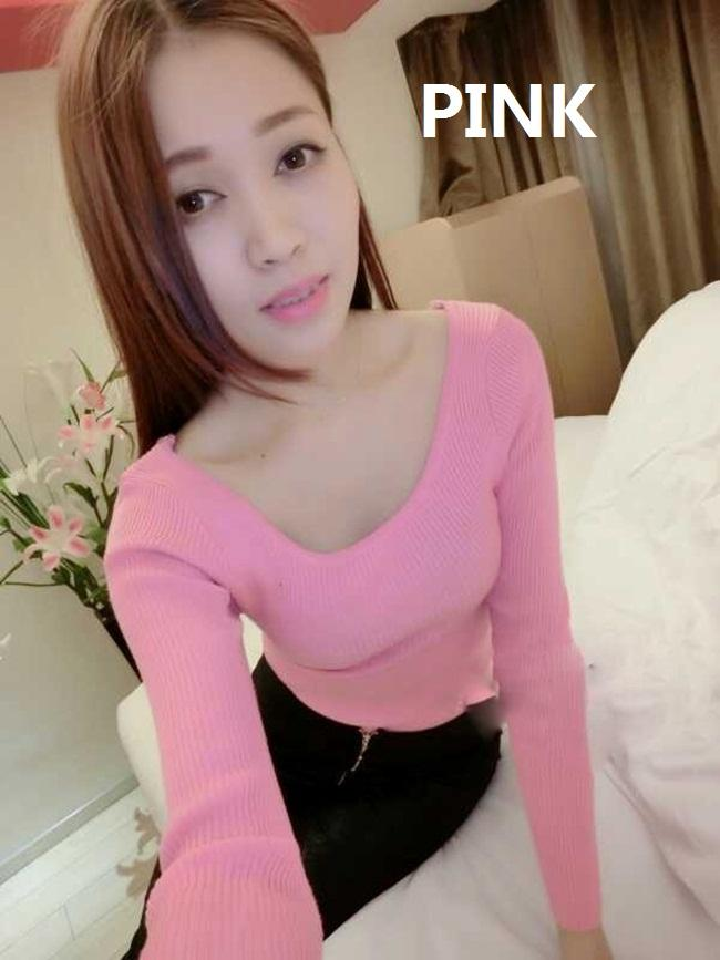 [CM5223P] Korean Elegant Woman Casual Travel Sexy Stylish Top Pink