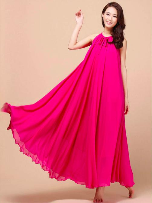 [CM5469DP] Woman Sexy Elegant Korean Dinner Long Dress Dark Pink