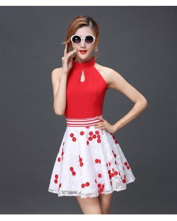 [CM69244] Top and Skirt As Picture (1 Set)
