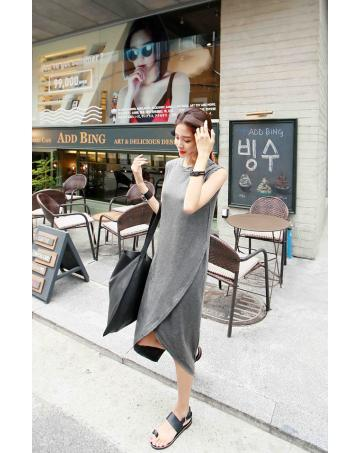 [CM69267G] Fashion Women Dress Grey