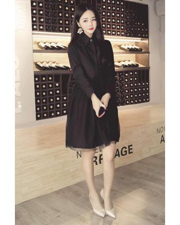 [CM70215BK] Women Korea Lovely Dress Black