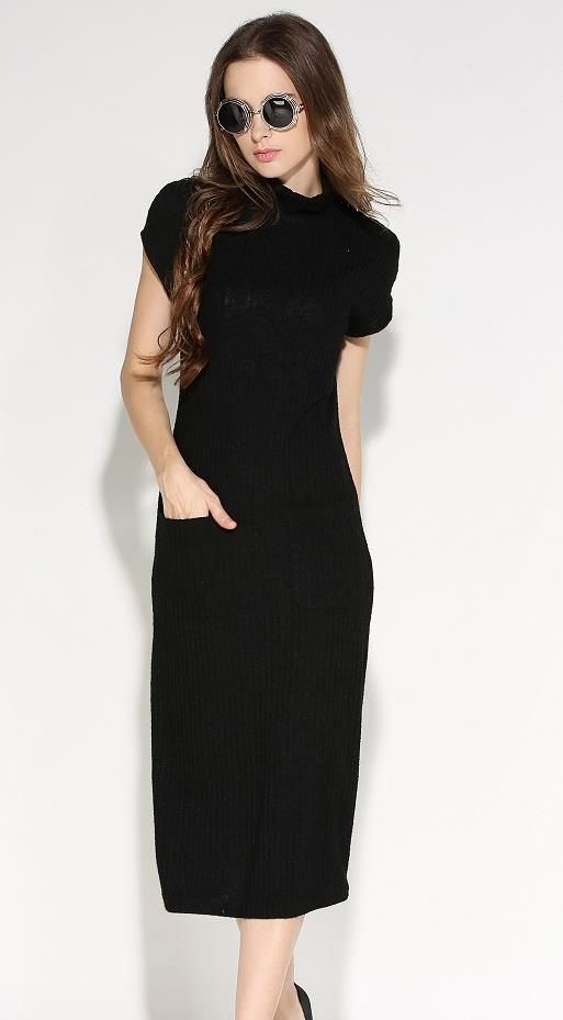 [CM71239BK] Women Korea Fashion Dress Black